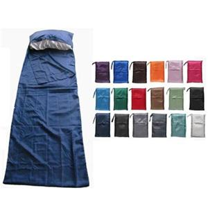 100% Silk Sleeping Bag With Zipper Sleeping Bag Linner