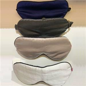 100% Silk Eye Mask-Grey And Dark Blue Color