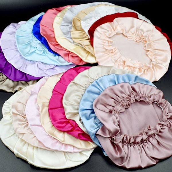 Multi-Colorful Wholesale Silk Charmeuse Large Bonnet