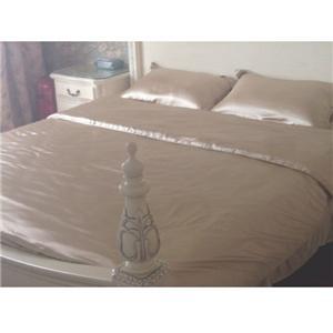 Lila färg 100% Silk sängkläder uppsättningar