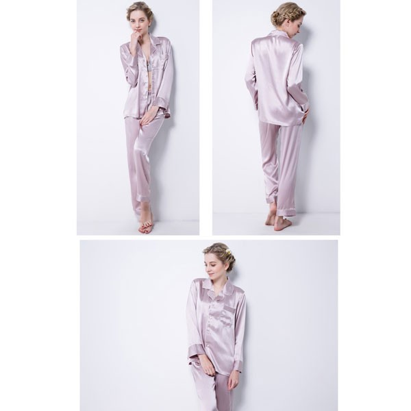 Women's Sexy Silk Pajamas Shirt