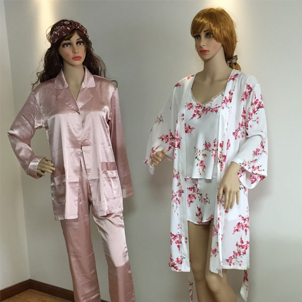 Customized Style And Color Of 100% Natural Silk Pajamas