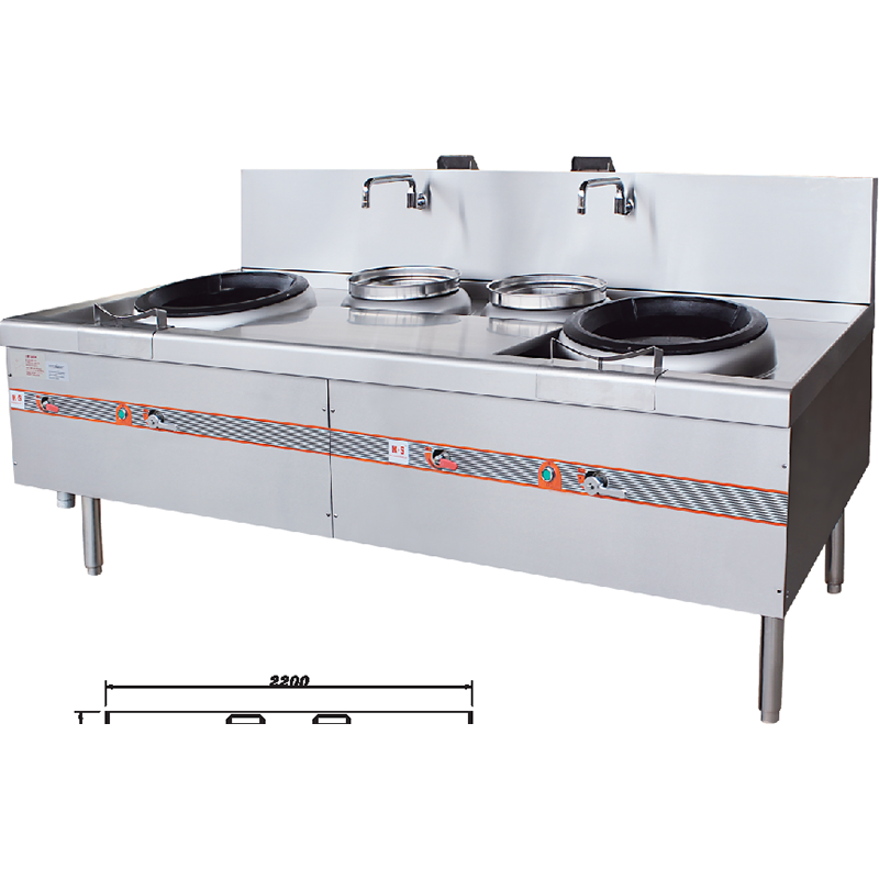 Stainless Steel 2 Burners And 2 Warmers Gas Wok Stove Manufacturers, Stainless Steel 2 Burners And 2 Warmers Gas Wok Stove Factory, Supply Stainless Steel 2 Burners And 2 Warmers Gas Wok Stove