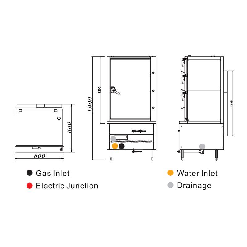 Single Door Gas Food Steamer Manufacturers, Single Door Gas Food Steamer Factory, Supply Single Door Gas Food Steamer