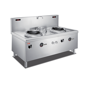 Induction Double Wok Cooker With Stock Pot