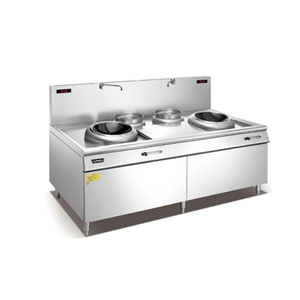 Induction Double Wok Cooker With Twin Stock Pots