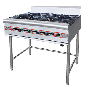 Commercial 4 Burners Gas Stove Cooker