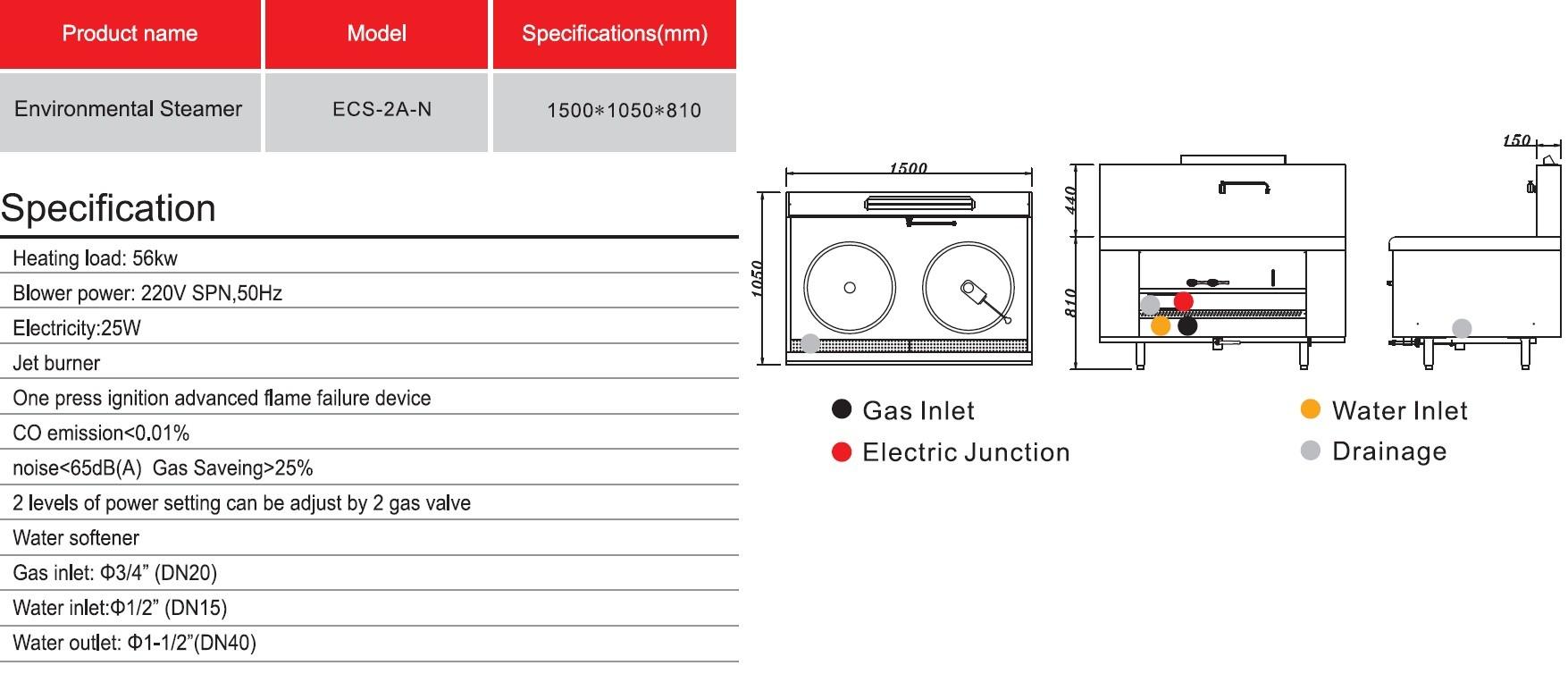 Gas Type Steamer