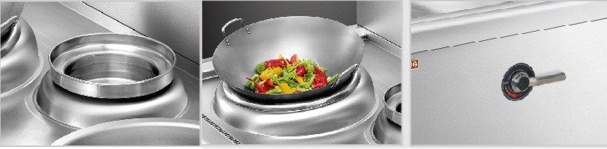 Induction cooker with stock pots
