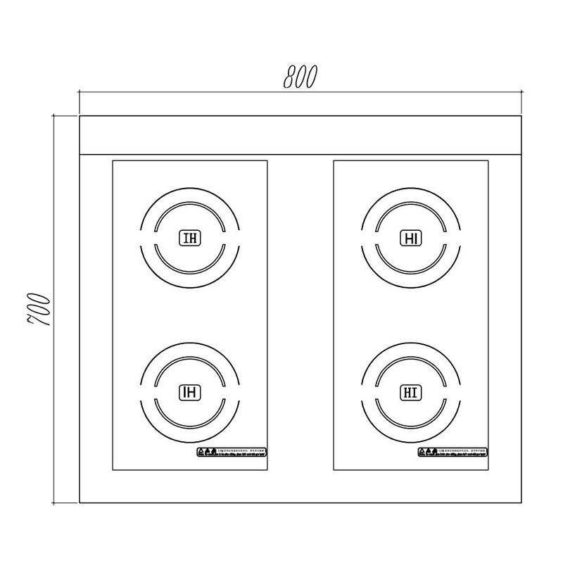 desktop induction cooker