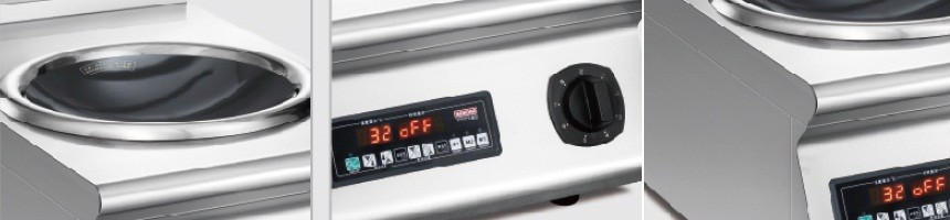 Countertop induction wok stove