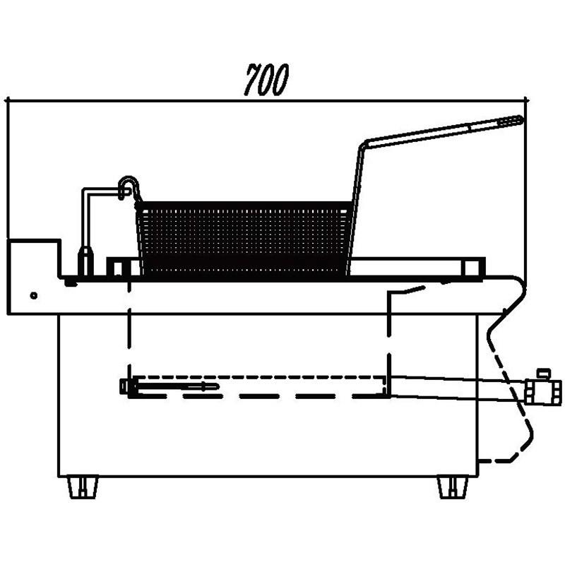 Countertop induction fryer
