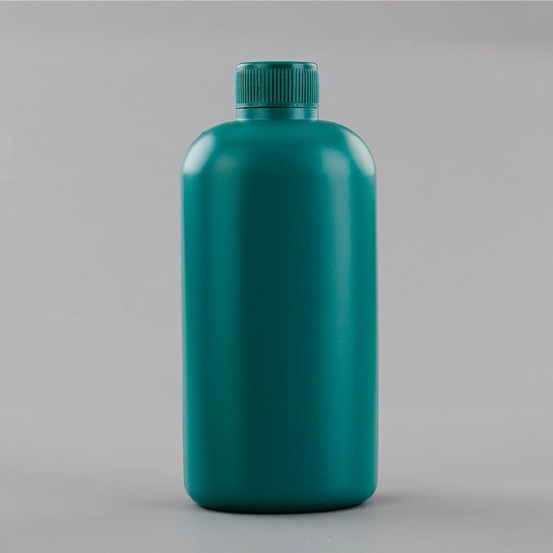 500ml New Design Green PE Plastic Liquid Container Medicine Bottle