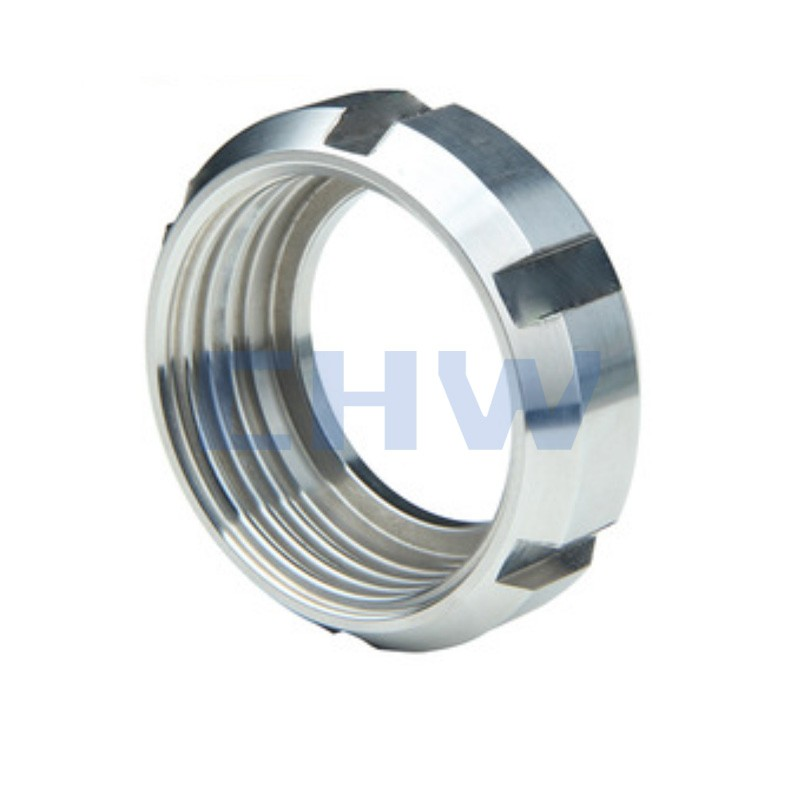 Sanitary stainless steel high quality round nut ss304 ss316L DIN SMS ISO 3A BPE IDF AS BS