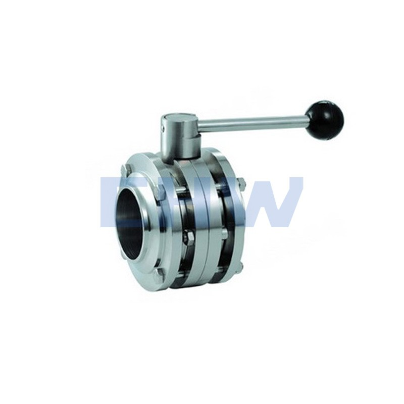Sanitary stainless steel high quality flange butterfly valve ss304 ss316L DIN SMS ISO 3A BPE IDF AS BS