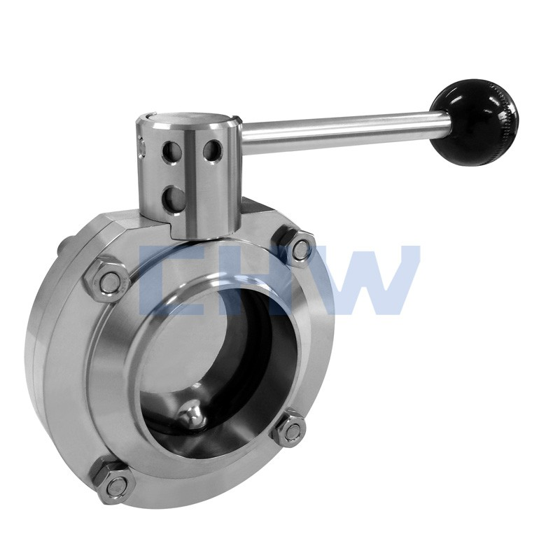 Sanitary stainless steel high quality double-face welded butterfly valve SS304 SS316L DIN SMS ISO 3A BPE IDF AS BS