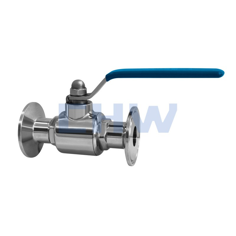 Sanitary stainless steel high quality through rapid installed ball valve SS304 SS316L DIN SMS ISO 3A BPE IDF AS BS