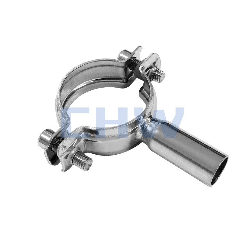 Sanitary Stainless steel SS304 SS316L pipe clamps pipe support pipe holders clips tubing hanger