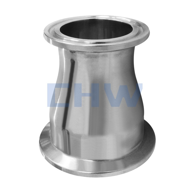 Sanitary stainless steel high quality concentric reducer both end Ferrule SS304 SS316L DIN SMS ISO 3A BPE IDF AS BS