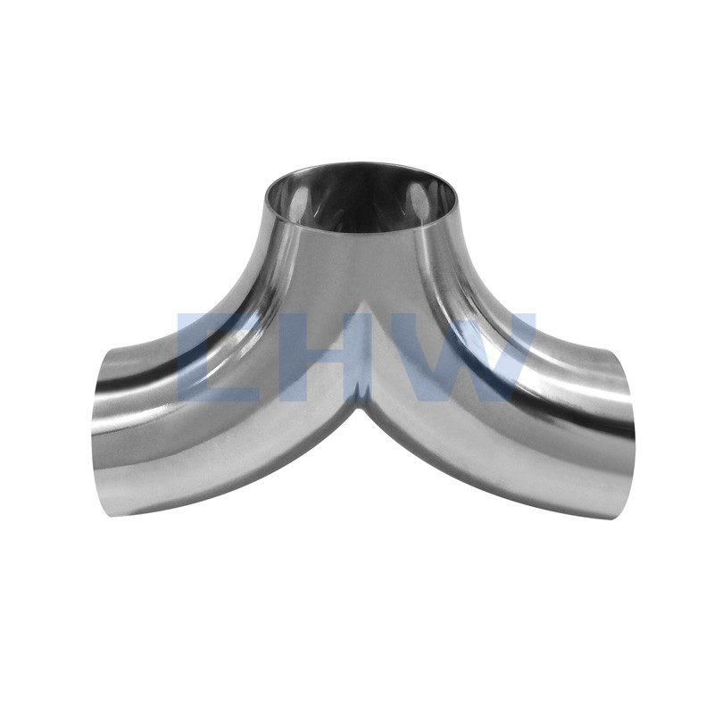 Sanitary stainless steel high quality 304 welded R tee SS304 SS316L DIN SMS ISO 3A BPE IDF AS BS