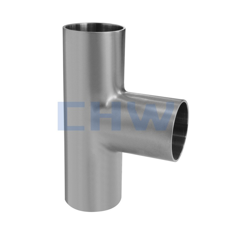 Sanitary Stainless steel high quality Butt weld equal tee SS304 SS316L DIN SMS ISO 3A BPE IDF AS BS