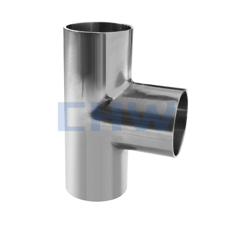 Sanitary stainless steel high quality equal tee SS304 SS316L DIN SMS ISO 3A BPE IDF AS BS