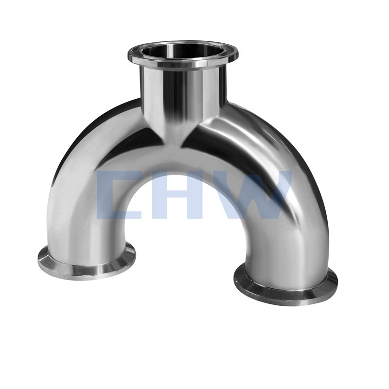 Stainless steel SS304 SS316L sanitary high quality quick-installed U tee DIN SMS ISO 3A BPE IDF AS BS