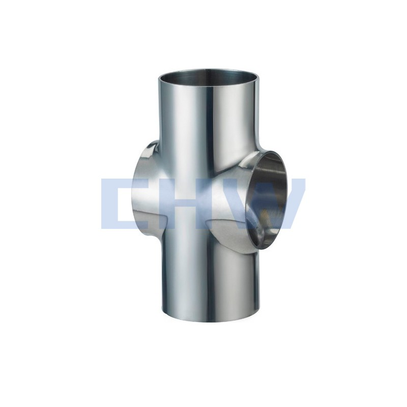 Sanitary stainless steel high quality weld short crossSS304 SS316L DIN SMS ISO 3A BPE IDF AS BS
