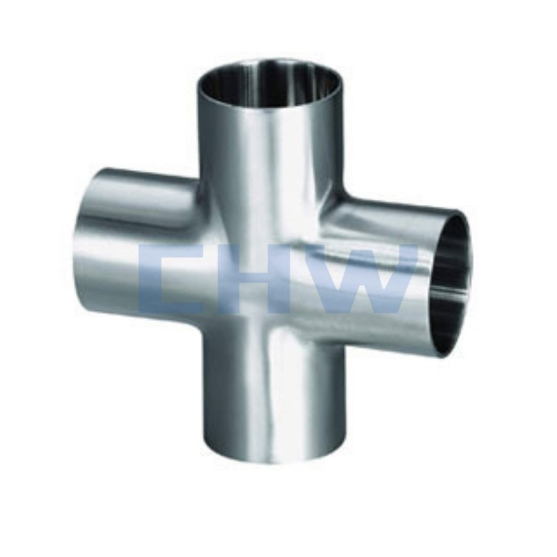 Sanitary stainless steel high quality cross SS304 SS316L DIN SMS ISO 3A BPE IDF AS BS