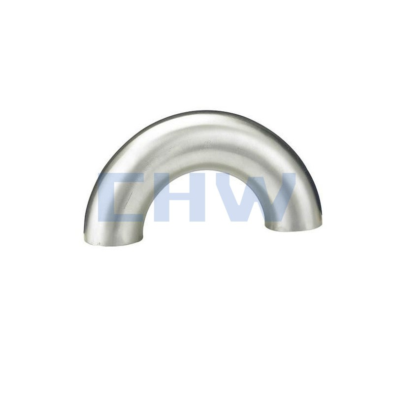 Stainless steel sanitary 180D SS304 SS306L eblow bend pipe fittings high quality DIN SMS ISO 3A BPE IDF AS BS
