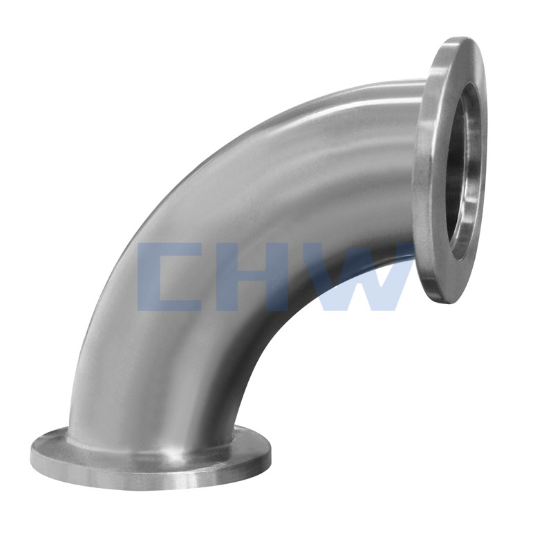 Stainless steel sanitary clamped 90D SS304 SS316L bend with mirror polishing elbow DIN SMS ISO 3A BPE IDF AS BS