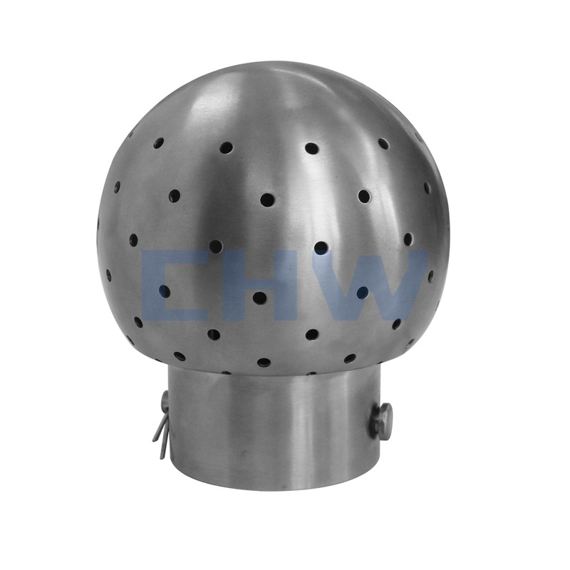 Sanitary stainless steel high quality Bolted Fixed Cleaning Ball ss304 ss316L DIN SMS ISO 3A BPE IDF AS BS