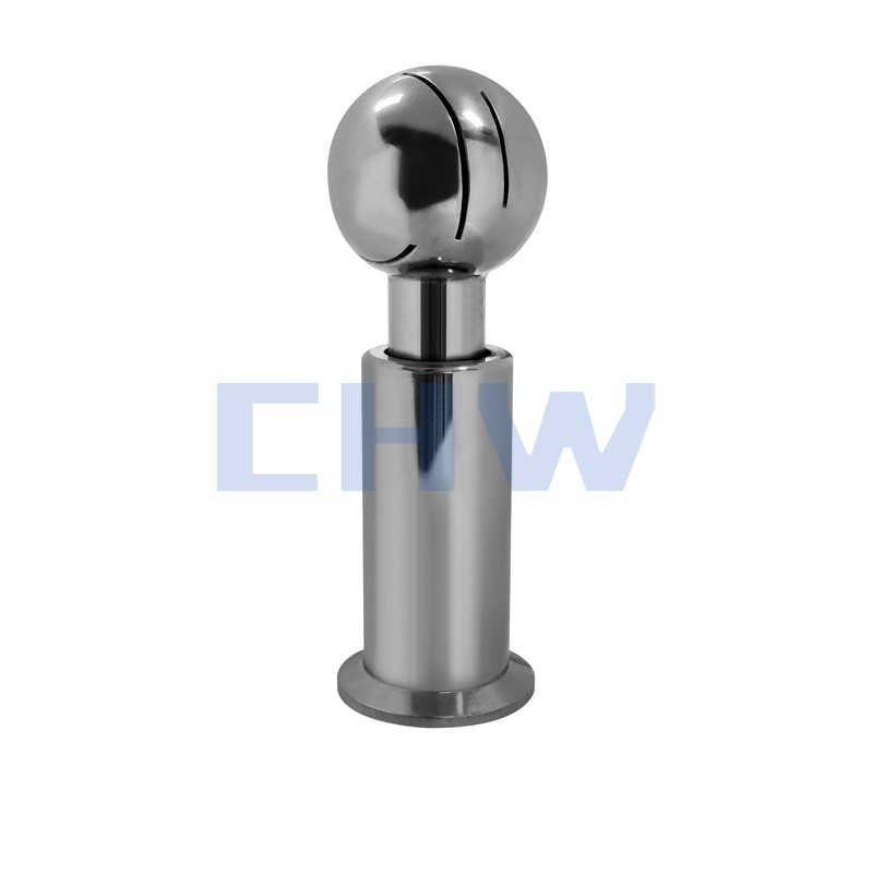 Sanitary stainless steel high quality Clamped Rotary Cleaning Ball ss304 ss316L DIN SMS ISO 3A BPE IDF AS BS