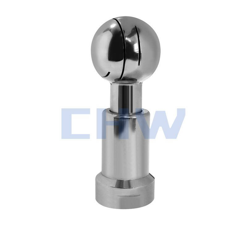 Sanitary stainless steel high quality Welded Rotary Cleaning Ball ss304 ss316L DIN SMS ISO 3A BPE IDF AS BS