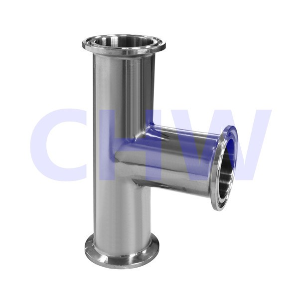 Sanitary stainless steel high quality steel reducing tee ends ferrule SS304 SS316L DIN SMS ISO 3A BPE IDF AS BS