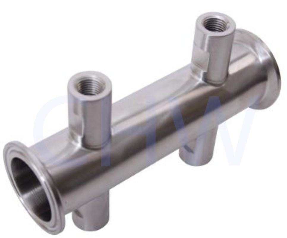 Sanitary stainless steel high quality Tri Clamp 1.5 in. x (4) FNPT 14 in SS304 SS316L manflod DIN SMS ISO 3A BPE IDF AS BS