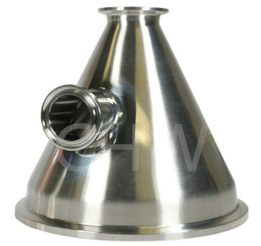 SS304 Sanitary Triclamp Reducer with Triclamp Side Port for Butane Extraction Kits