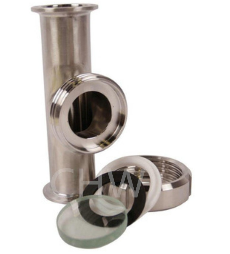 Triclamp Reducing Tee with Union Sight Glass for BHO Closed Loop Extraction System
