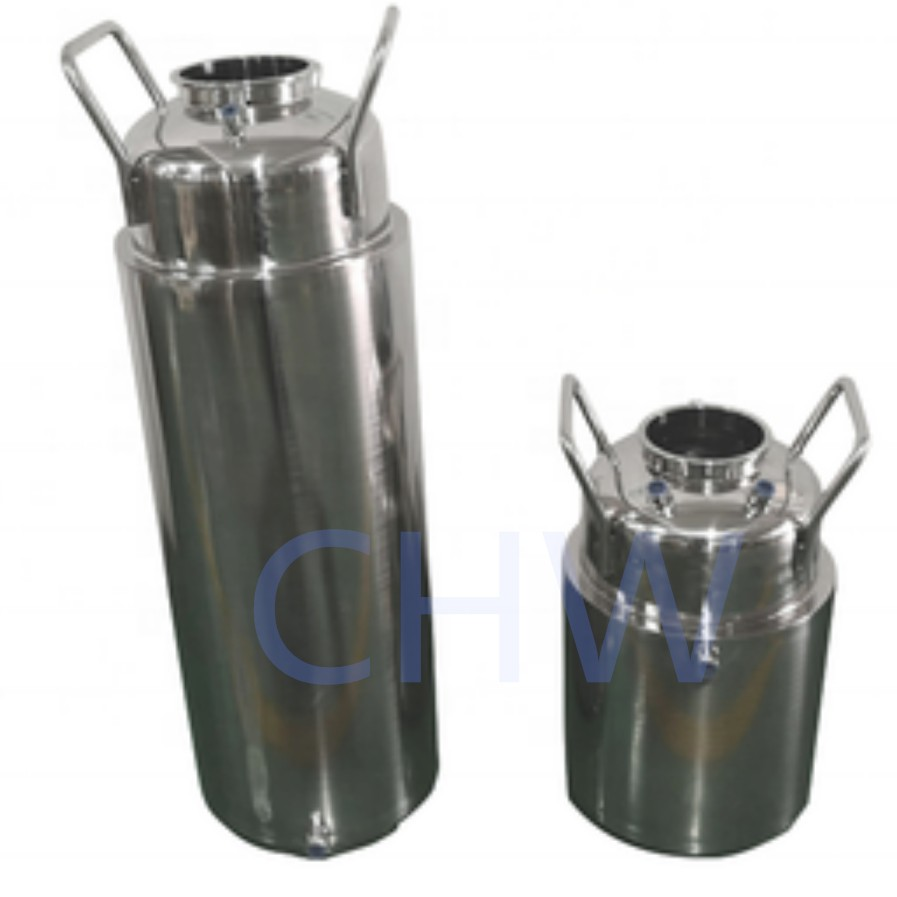 Stainless Steel Double 25LB-200LB Jacketed Recovery Solvent Tanks WITH Condensing Coil for BHO Closed Loop Extractor System