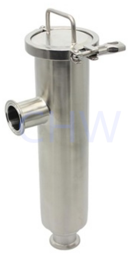 Sanitary stainless steel high quality Filter Angle Type ss304 ss316L DIN SMS ISO 3A BPE IDF AS BS