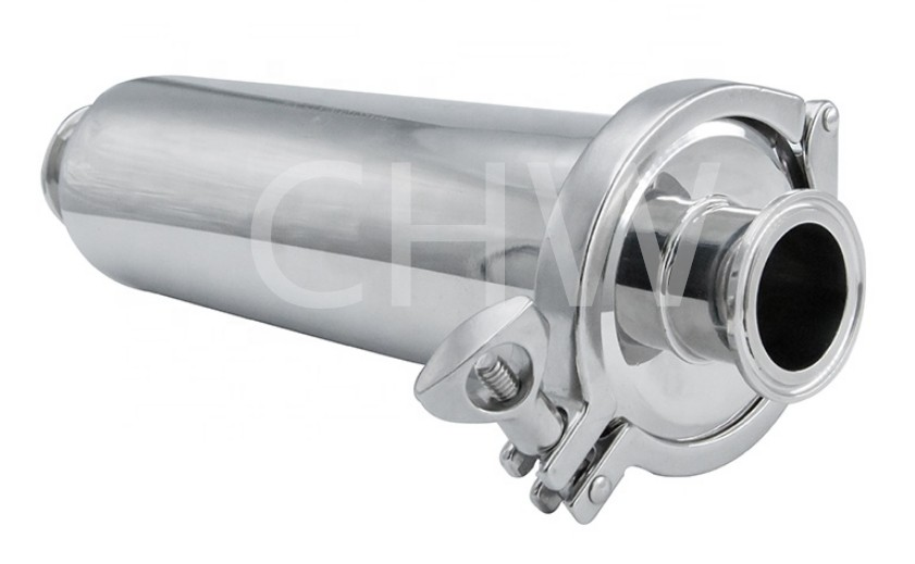Sanitary stainless steel high quality Filter straight-Through ss304 ss316L DIN SMS ISO 3A BPE IDF AS BS