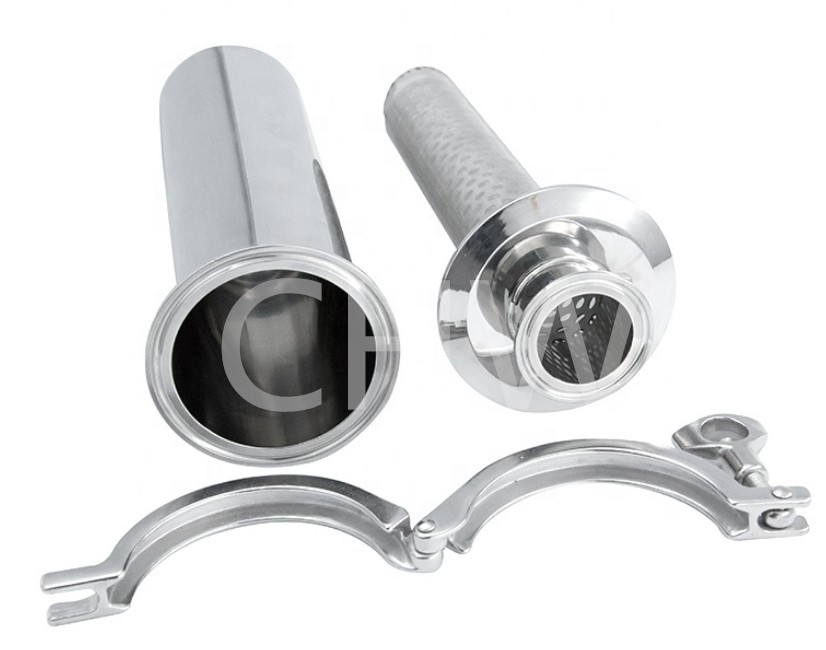 High quality Sanitary Stainless Steel Straight Strainer Filter
