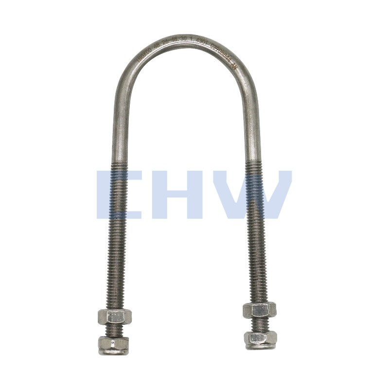 Sanitary Stainless steel SS304 SS316L pipe clamps slender U type pipe bracket holders pipe clips tubing hanger support