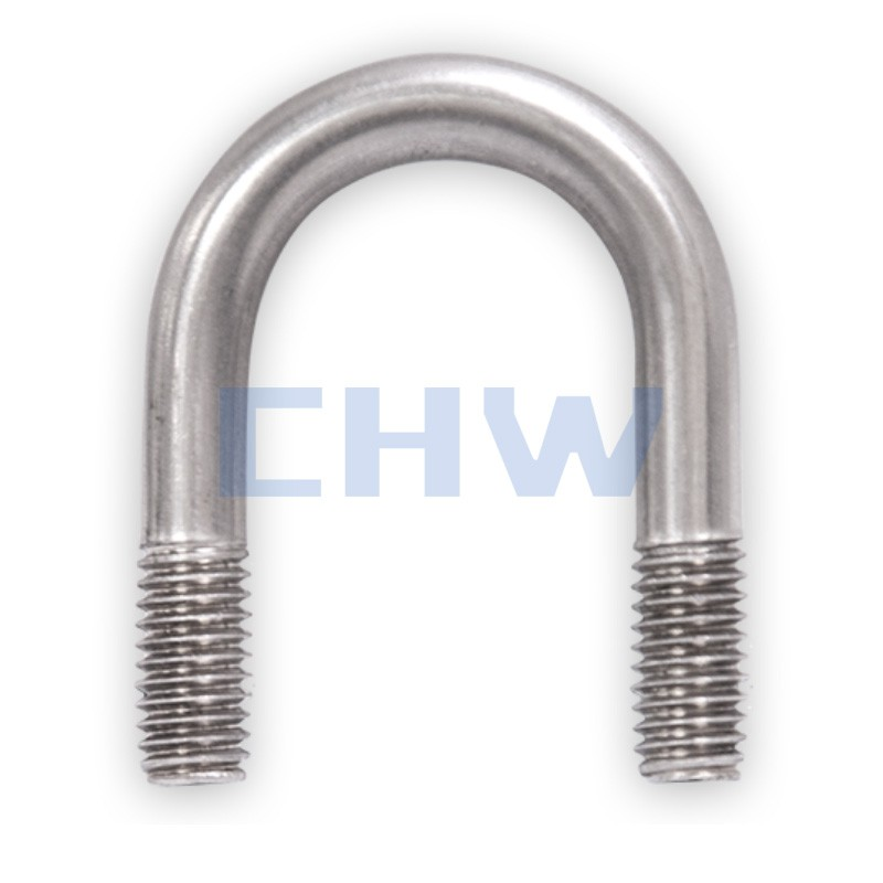Sanitary Stainless steel SS304 SS316L pipe clamps slender U type pipe clips pipe bracket holders tubing hanger support
