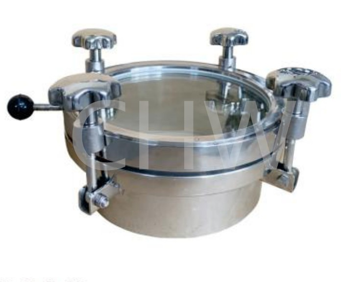 Sanitary stainless steel ss304 or ss316L Full View Mirror Manway Manhole