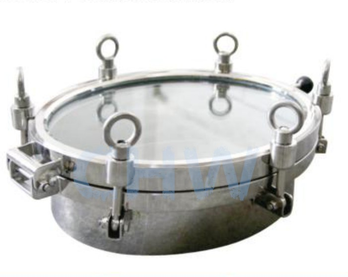 Sanitary stainless steel ss304 ss316L Full View Mirror Manway Manhole
