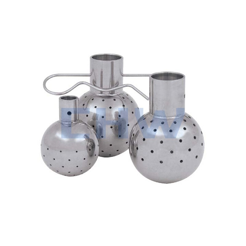 Sanitary stainless steel high qualityWelded Fixed Cleaning Ball ss304 ss316L DIN SMS ISO 3A BPE IDF AS BS