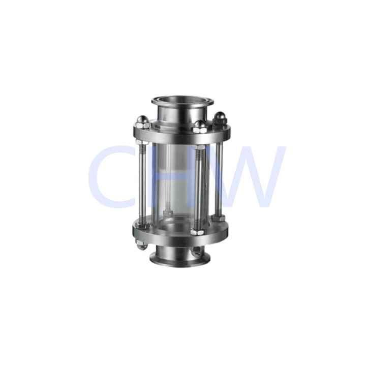 Stainless steel sanitary sight glass with protective net 304 SS316L DIN SMS ISO 3A BPE IDF AS BS