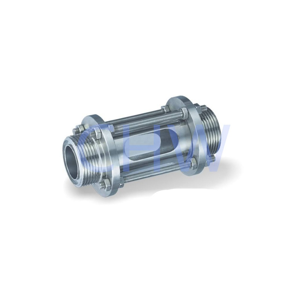 Stainless steel sanitary sight glass with protective net 304 316L DIN SMS ISO 3A BPE IDF AS BS