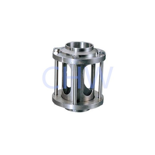 sanitary Stainless steel sight glass with protective net 304 316L DIN SMS ISO 3A BPE IDF AS BS